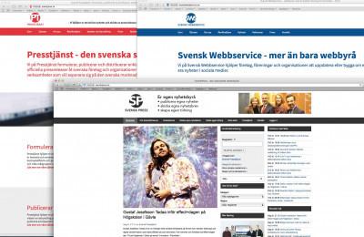 SvenskPress, Presstjänst och Svensk Webbservice.