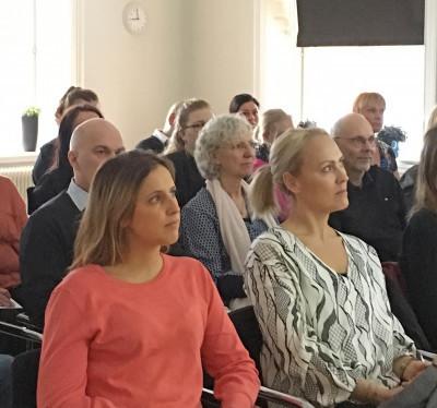 Intresserade åhörare under föreläsningen
