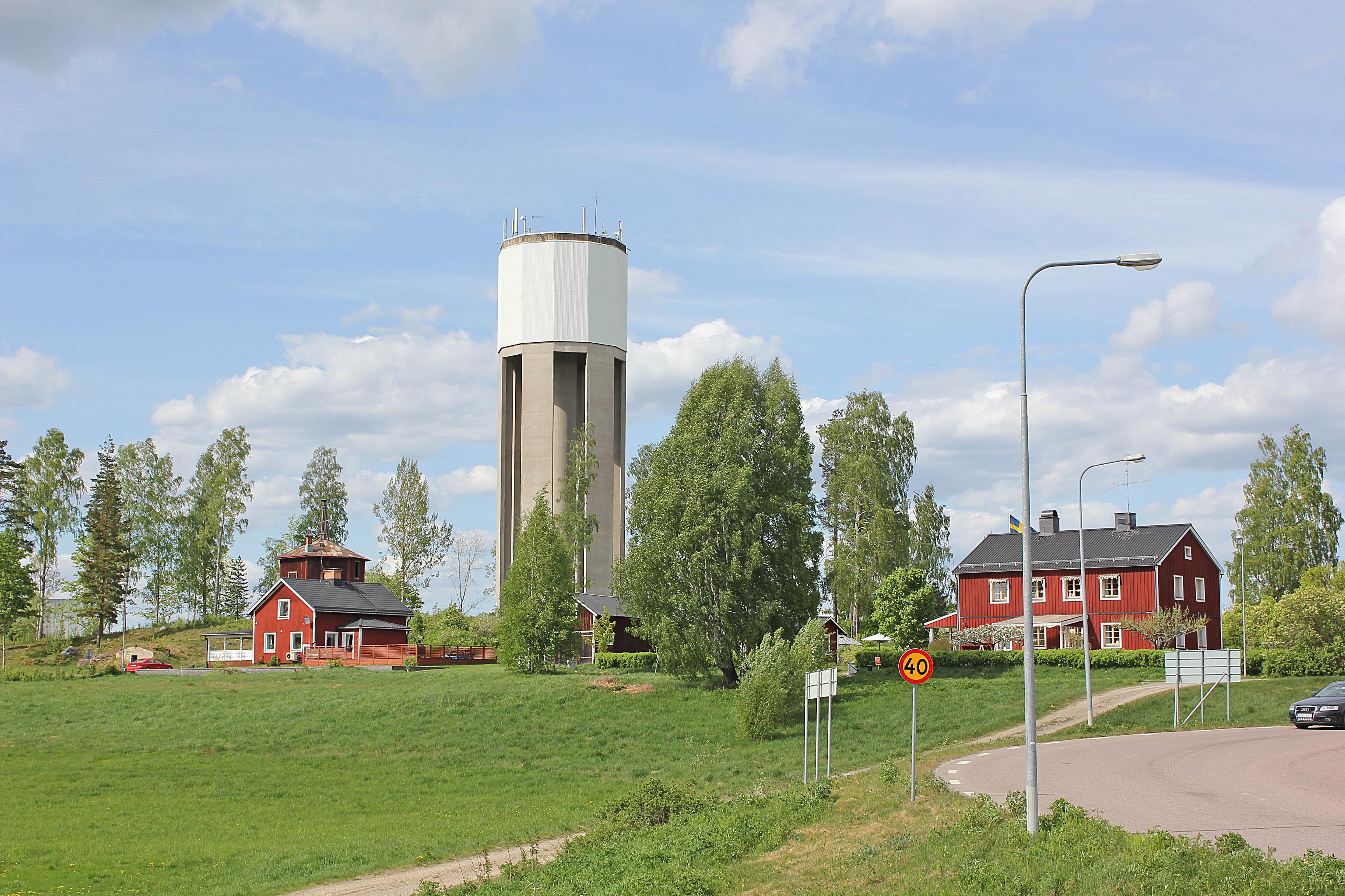 Betongrenovering av vattentornet i Ockelbo