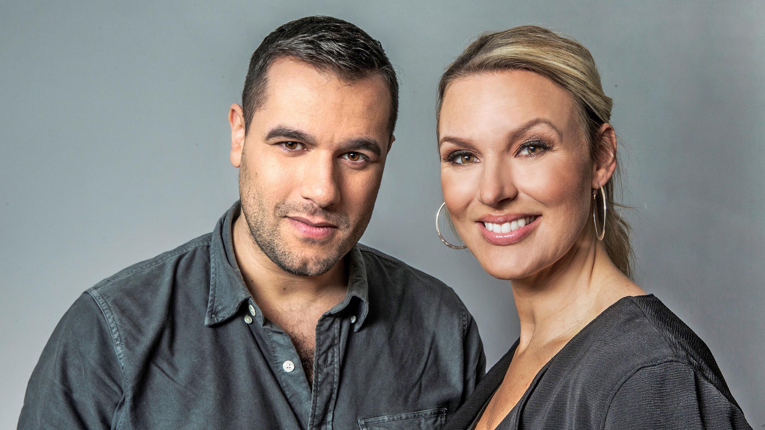 Sanna Nielsen och Edward af Sillén kommenterar Eurovision i Lissabon