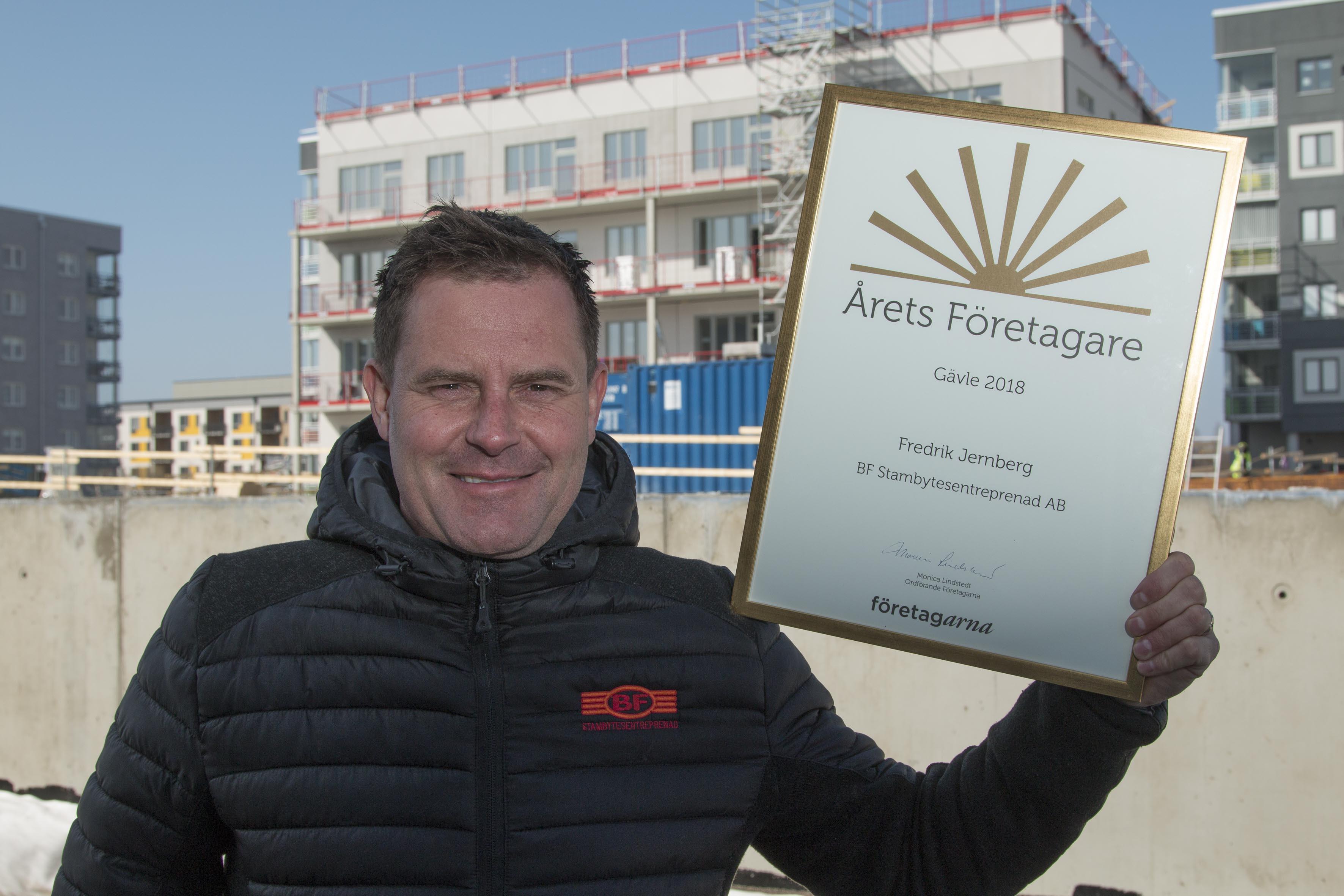 Fredrik Jernberg – Årets Företagare men också ett föredöme