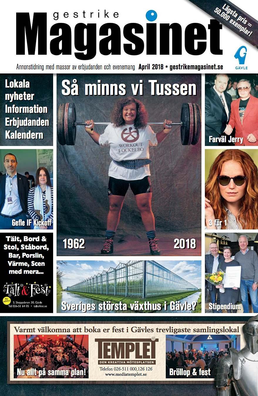 Aprilnumret av Gestrike Magasinet på nätet