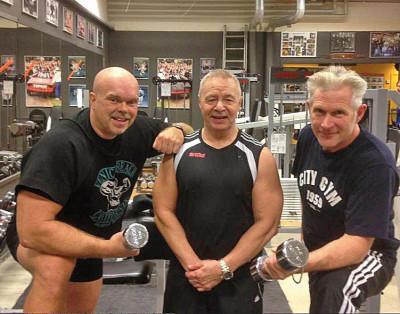 Joe Formgren, Jerry Williams och Matte Lagerwall tränade på Gävle Kraftsportsklubb.