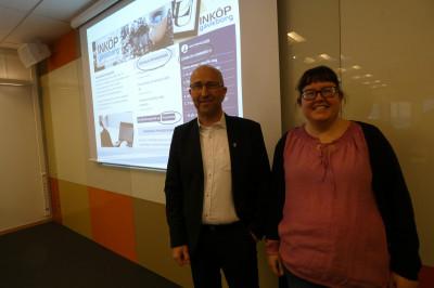 Maria Larsson, Inköp Gävleborg, och Mikael Hallqvist, inköpschef på Gävle kommun