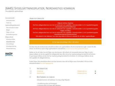 Elektroniskt anbud med varningstext