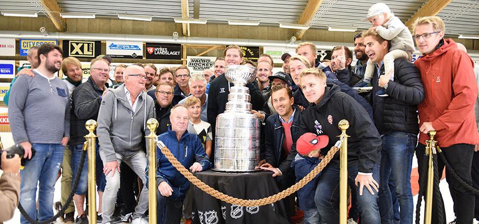 Stanley Cup-pokalen hemma i Gävle