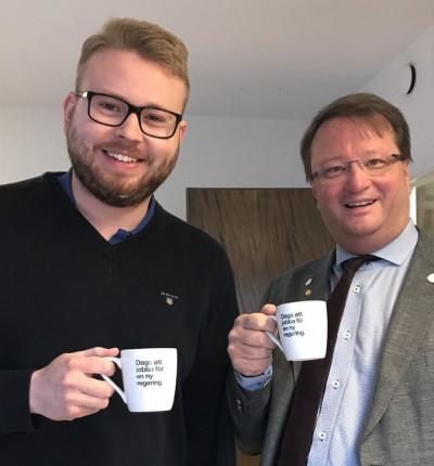 Viktor Wärnick och Lars Beckman