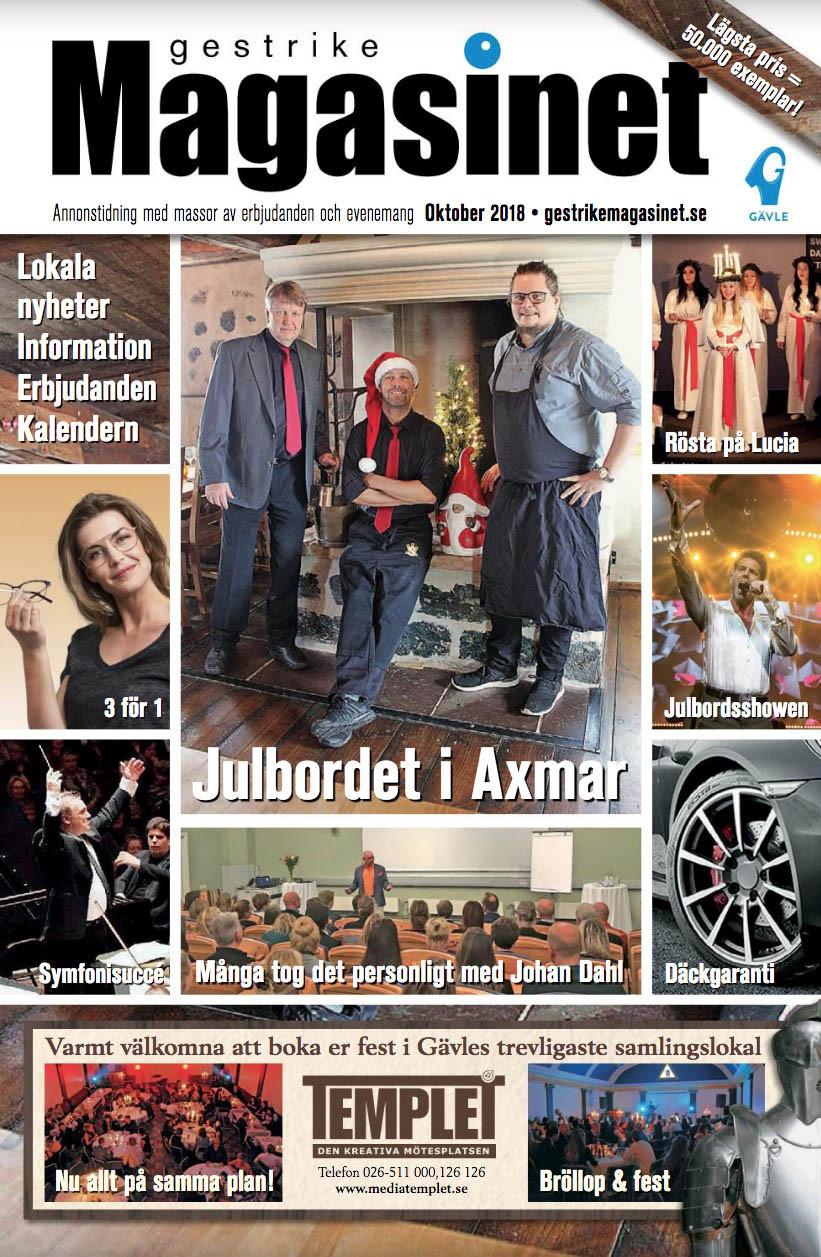 Oktobernumret av Gestrike Magasinet på nätet
