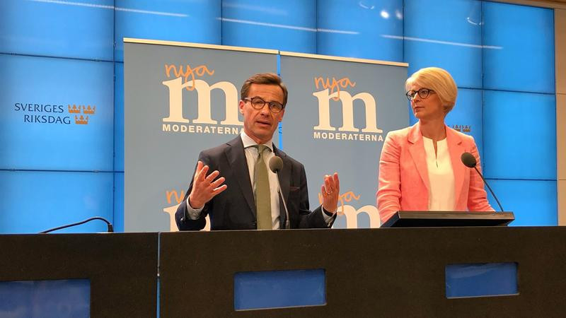 Ulf Kristersson och Elisabeth Svantesson, ekonomisk-politisk talesperson