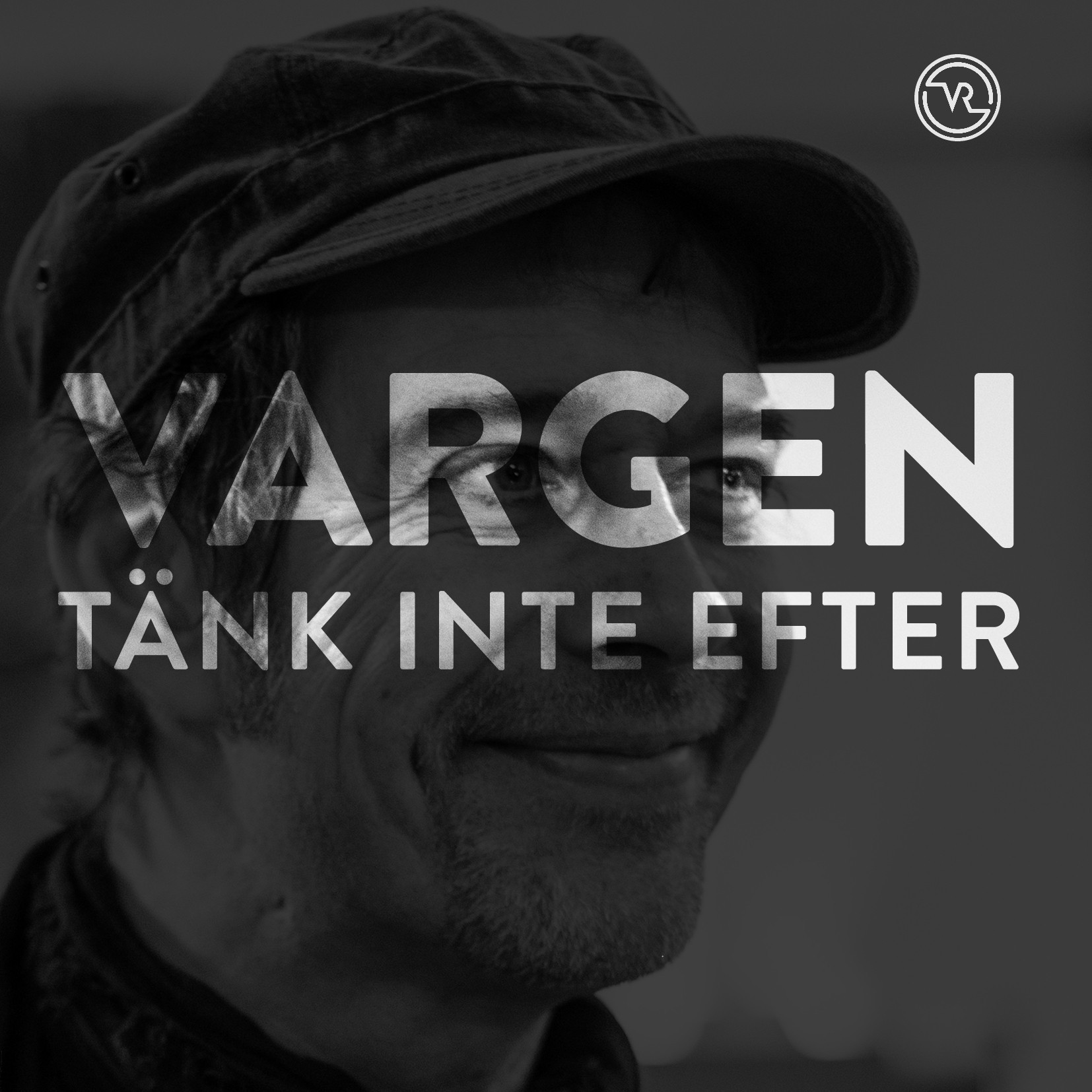 """Singel """"Tänk inte efter - Don't Think Twice, It's All Right"""" av Varge. Release 21/12. Formgivning: Måns Broman."""