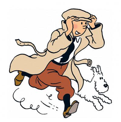 Tintin och Milou är pigg trots sin ålder.