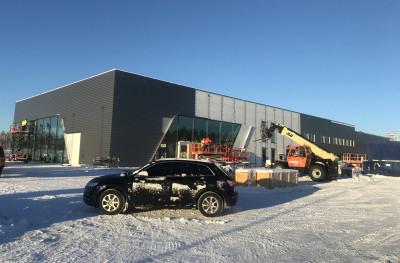 Bilmetros nya Audianläggning börjar ta form på Geodetgatan vid Hemlingby köpcentrum