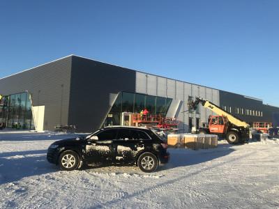 Bilmetros nya Audianläggning i Gävle börjar ta form