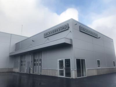 Ny däckverkstad med verkstadsdel, däckhotell och bilglas byggs granne med Audianläggningen