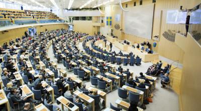 Omröstning i riksdagen. Foto: riksdagen.se
