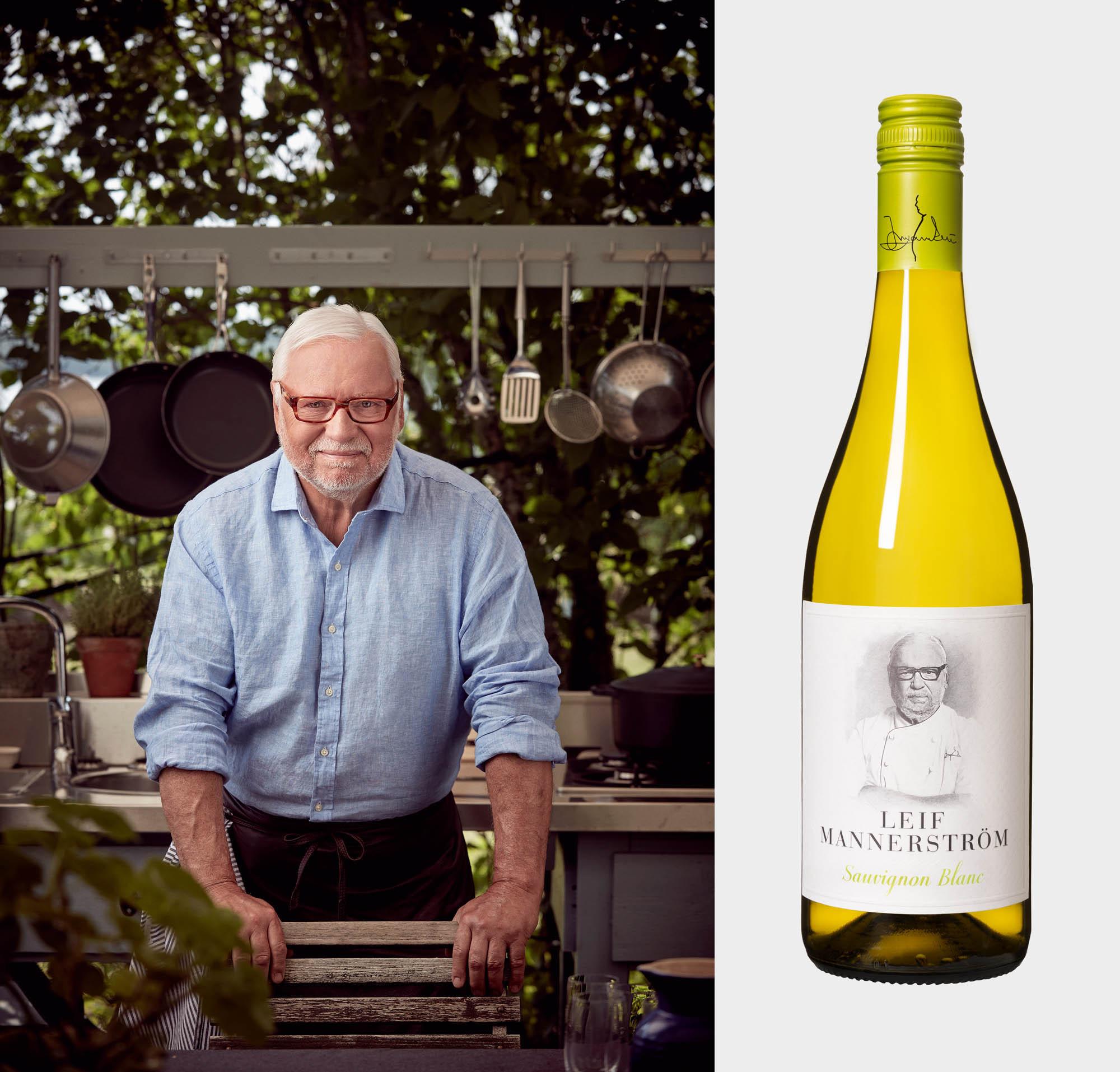 Mästerkocken Leif Mannerström lanserar eget vin inför sommaren