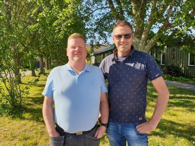 Lars Hallenberg och Cornelis Schrieken nya delägare på Sörby Handelsträdgård i Gävle.