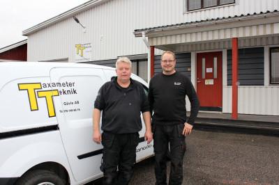 Magnus Kurberg och Henrik Ögren på Taxameterteknik i Gävle.