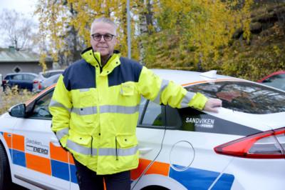 Patrick Sjöstedt är projektledare för laddinfrastrukturprojektet som är en del av Sandviken Pure Power.