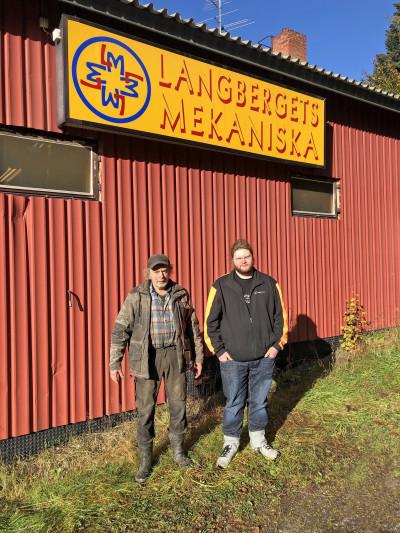 Tillsammans med Ingemar Östlund på Langbergets mekaniska som jobbade på utvecklingen på Ockelbo Industrier.
