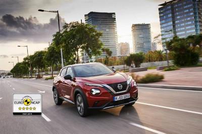 Nya Nissan JUKE får 5 stjärnor i Euro NCAP 2019