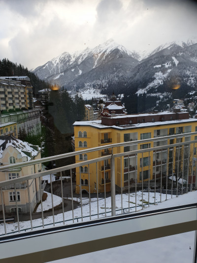 Utsikt från en balkong på Hotellet