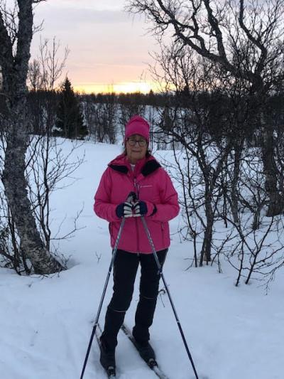 Helene skidåkaren