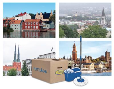 Svensk Flyttstäd har etablerat sig på 25 nya orter.