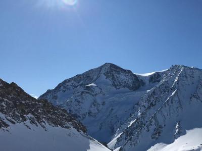 Utsikt över Alperna.