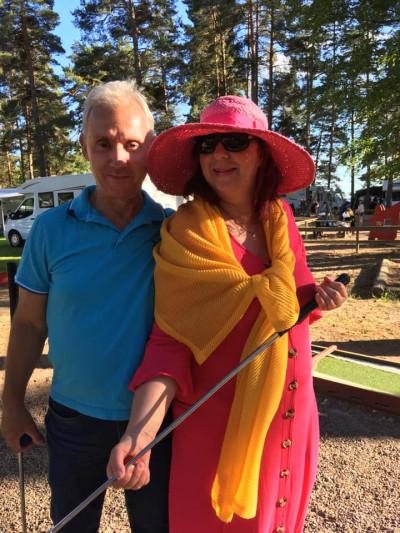Tina Rose med sin man