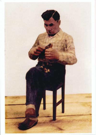 Algot Andersson, självporträtt