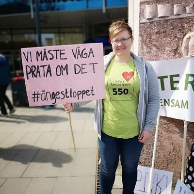 Malin Lindén, initiativtagare till Gävle Ångestlopp.