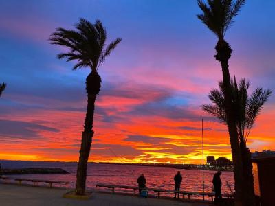 Solnedgång Spanien