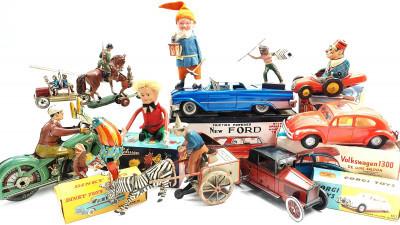 Samlar på gamla leksaker