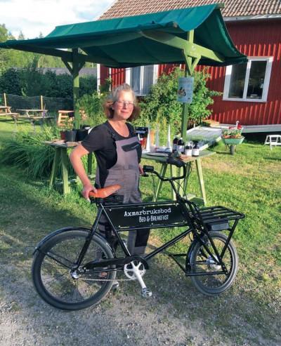 Ulrike Seiner som driver Axmar Bruksbod och Axmars Bed & Breakfast.