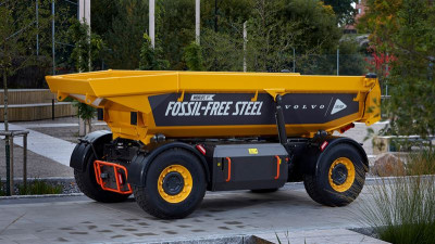 Volvokoncernen lanserar världens första fordon tillverkat av fossilfritt stål