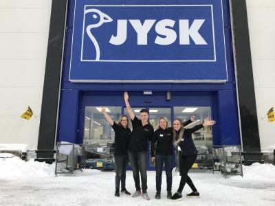 JYSK Hemlingby. Från vänster: Lotta, Veronica, Lena, Joanna.