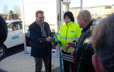 Invigning av vätgasmacken hos AGA i Sandviken