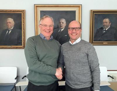 Verksamhetsledare Arnfinn Fredriksson, StyrelseAkademien Gävleborg och medlemmen Kjell Gunnarsson.